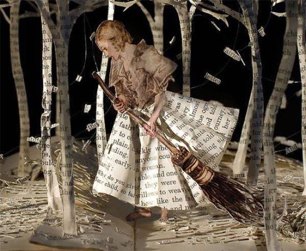 Rzeźby z książek. 28