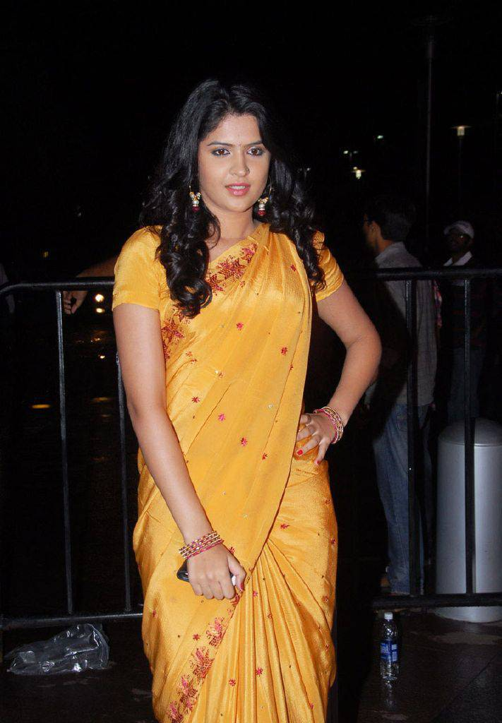 DEEKSHA SETH BEAUTIFUL LOOK IN SAREE AT SANTOSHAM AWARDS unseen pics