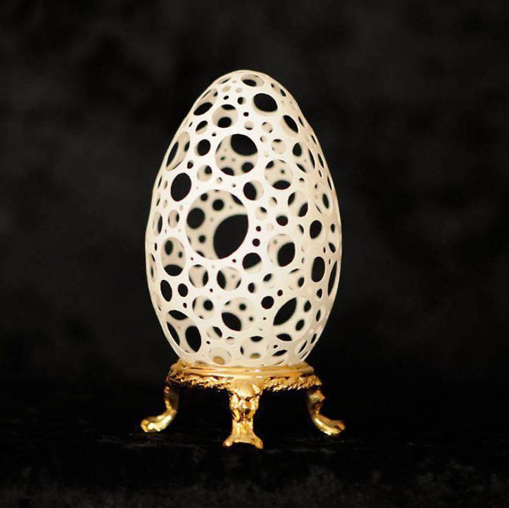 Rzeźby w skorupkach jajek 6