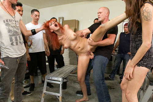 Phoenix Askani - Strap-on Fucked and Fisted in Public - Kink/ PublicDisgrace (2012/ HD 720p)
