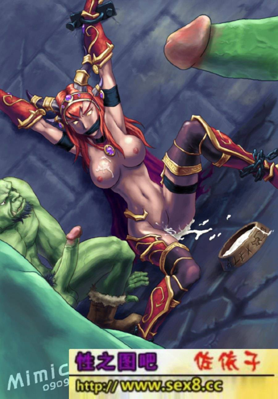 Alexstrasza, World_of_Warcraft, cum, cum_inside, mimic, orc, rape.