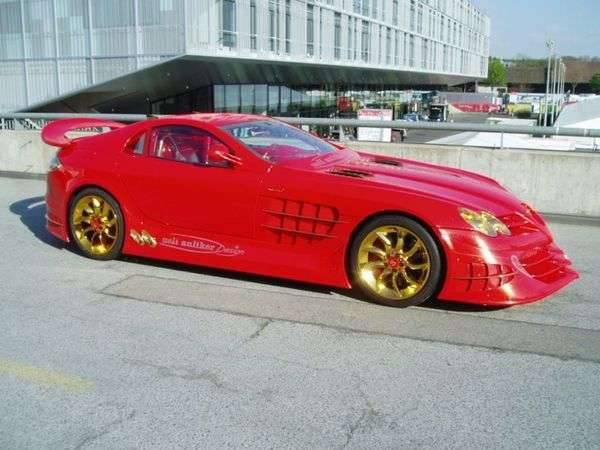 Mercedes SLR McLaren 999 Red Gold Dream 8