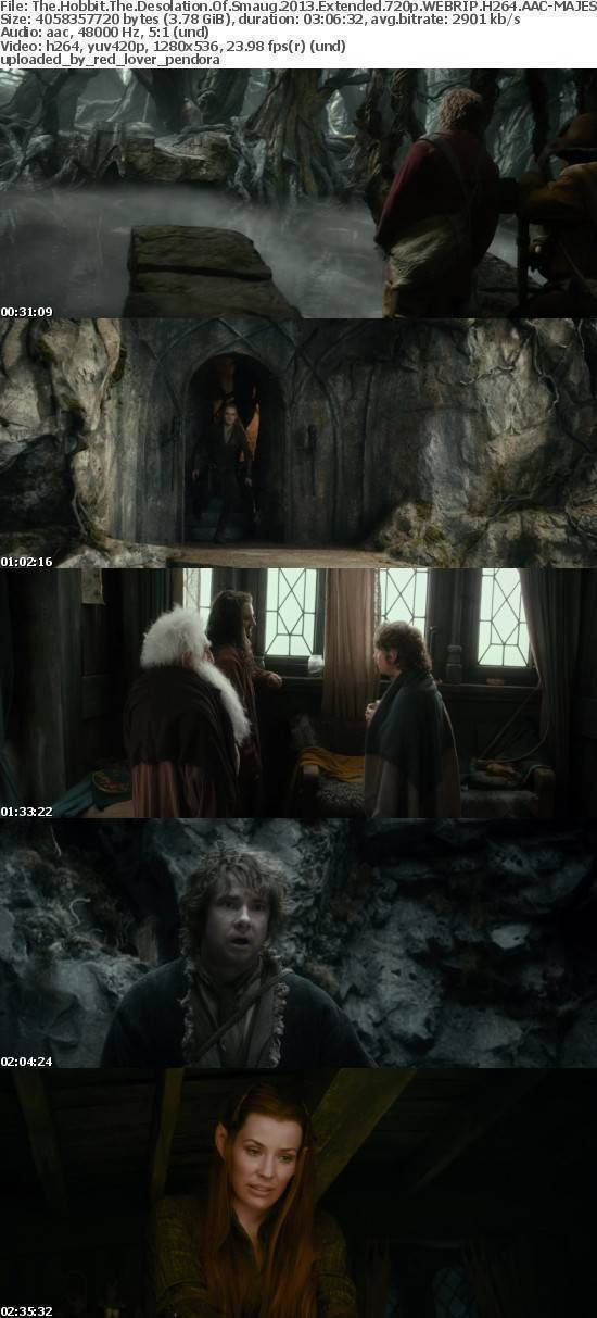 The Hobbit The Desolation Of Smaug 2013 Extended 720p WEBRIP H264 AAC MAJESTiC