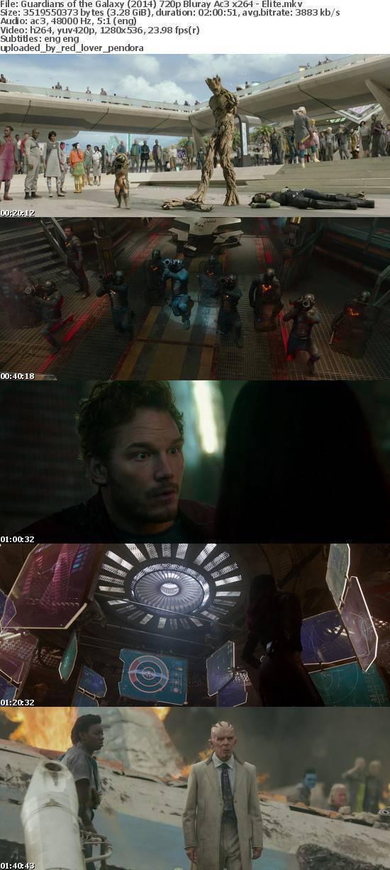 Guardians of the Galaxy (2014) 720p Bluray Ac3 x264 - Elite