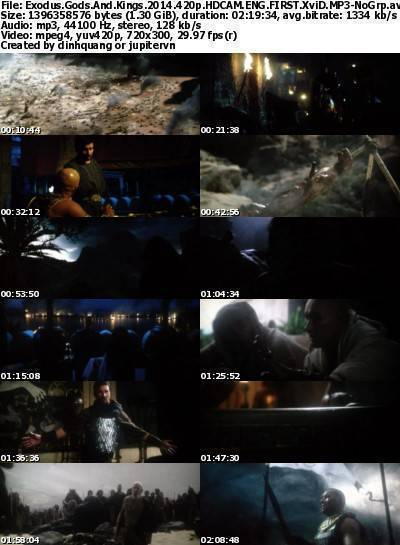 Exodus Gods and Kings (2014) 420p HDCAM ENG FIRST XviD MP3-NoGrp