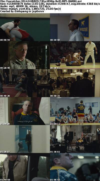 Foxcatcher (2014) SUBBED 720p HDRip XviD MP3-RARBG