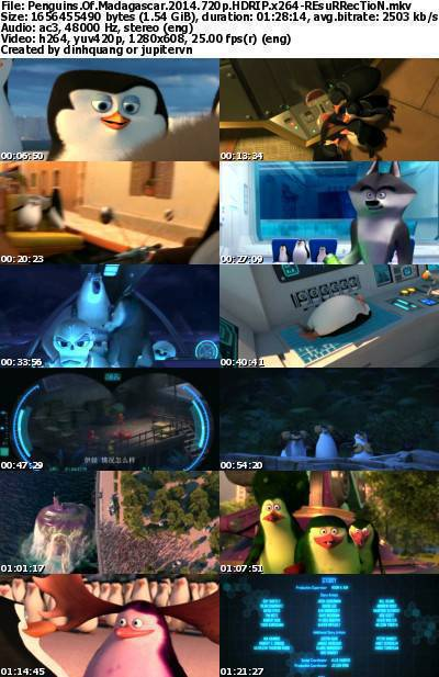 Penguins of Madagascar (2014) 720p HDRip x264-REsuRRecTioN