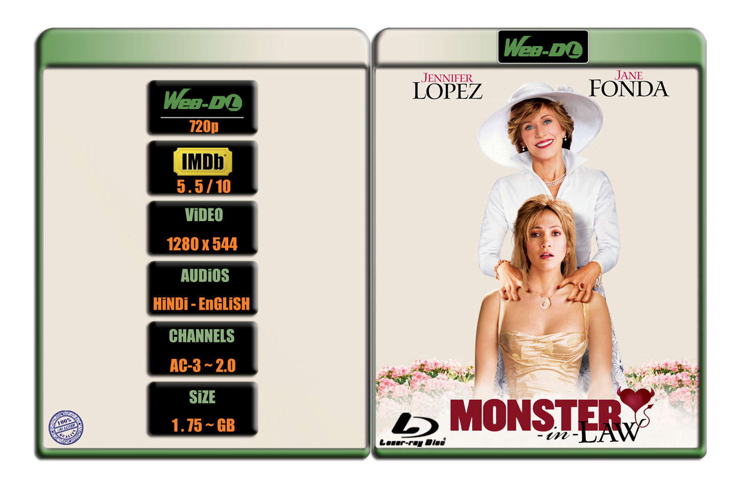 Monster In Law [2005] 720p WEB-DL x264 [AC-3 ~ 2.0] [HINDI – ENG] ® Im Loser ® 1.75 GB