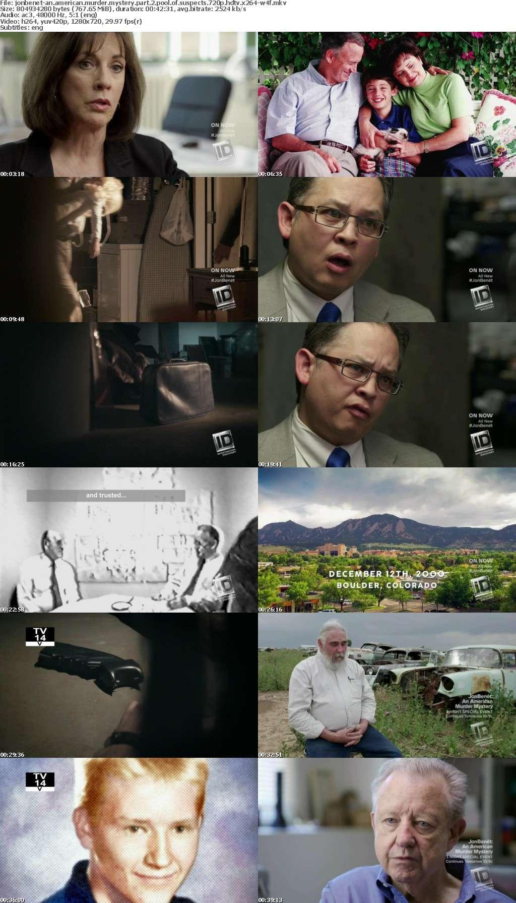 JonBenet-An American Murder Mystery Part 2 Pool of Suspects 720p HDTV x264-W4F