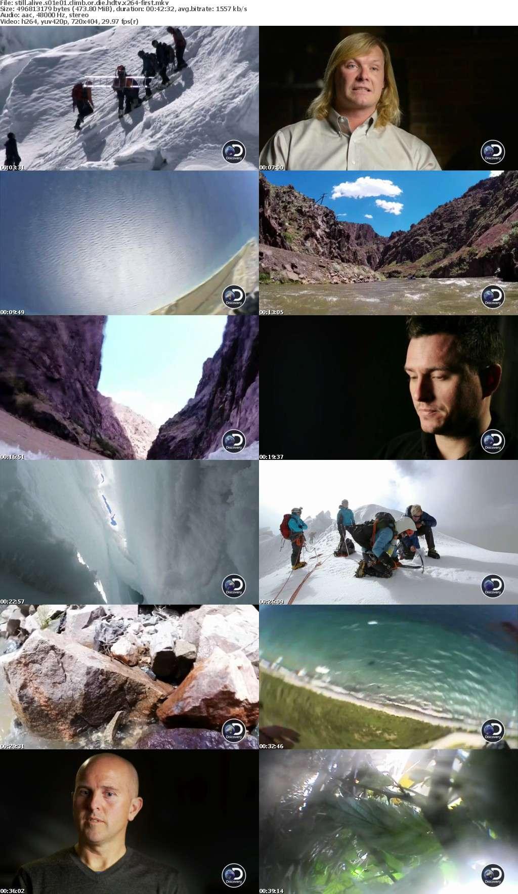 Still Alive S01E01 Climb or Die HDTV x264-FIRST