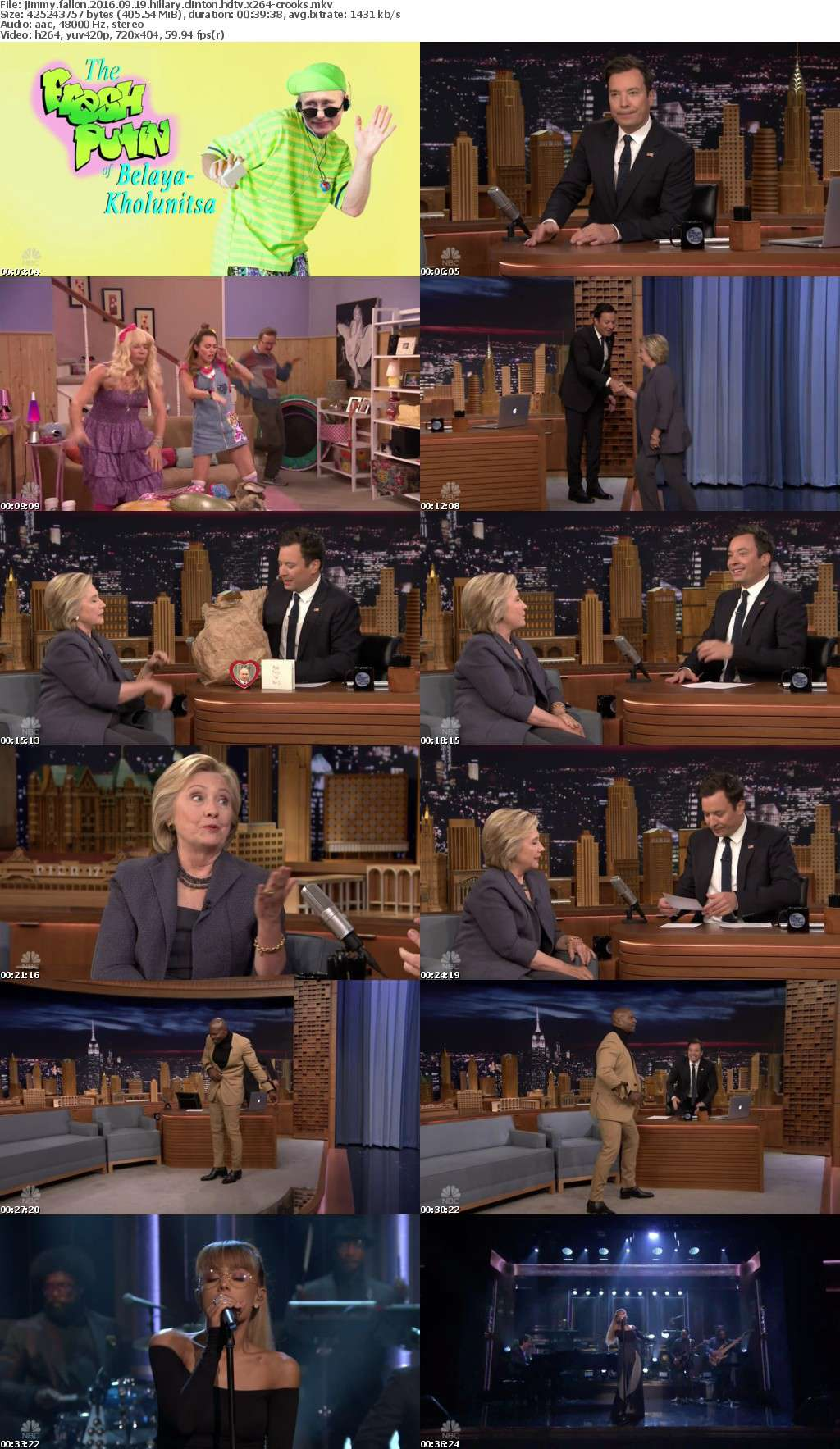 Jimmy Fallon 2016 09 19 Hillary Clinton HDTV x264-CROOKS