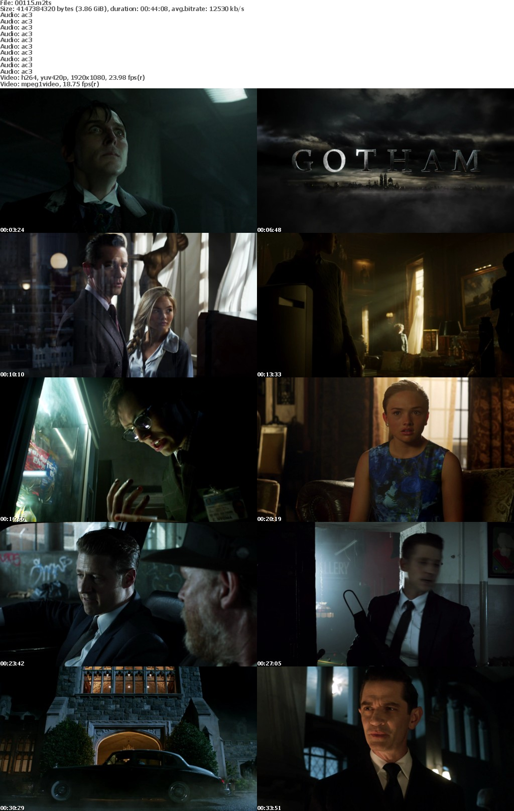Gotham S02 D02 BD25 Re-Encoded 1080p EUR Blu-ray AVC DTS-HD MA 5 1-SLHD