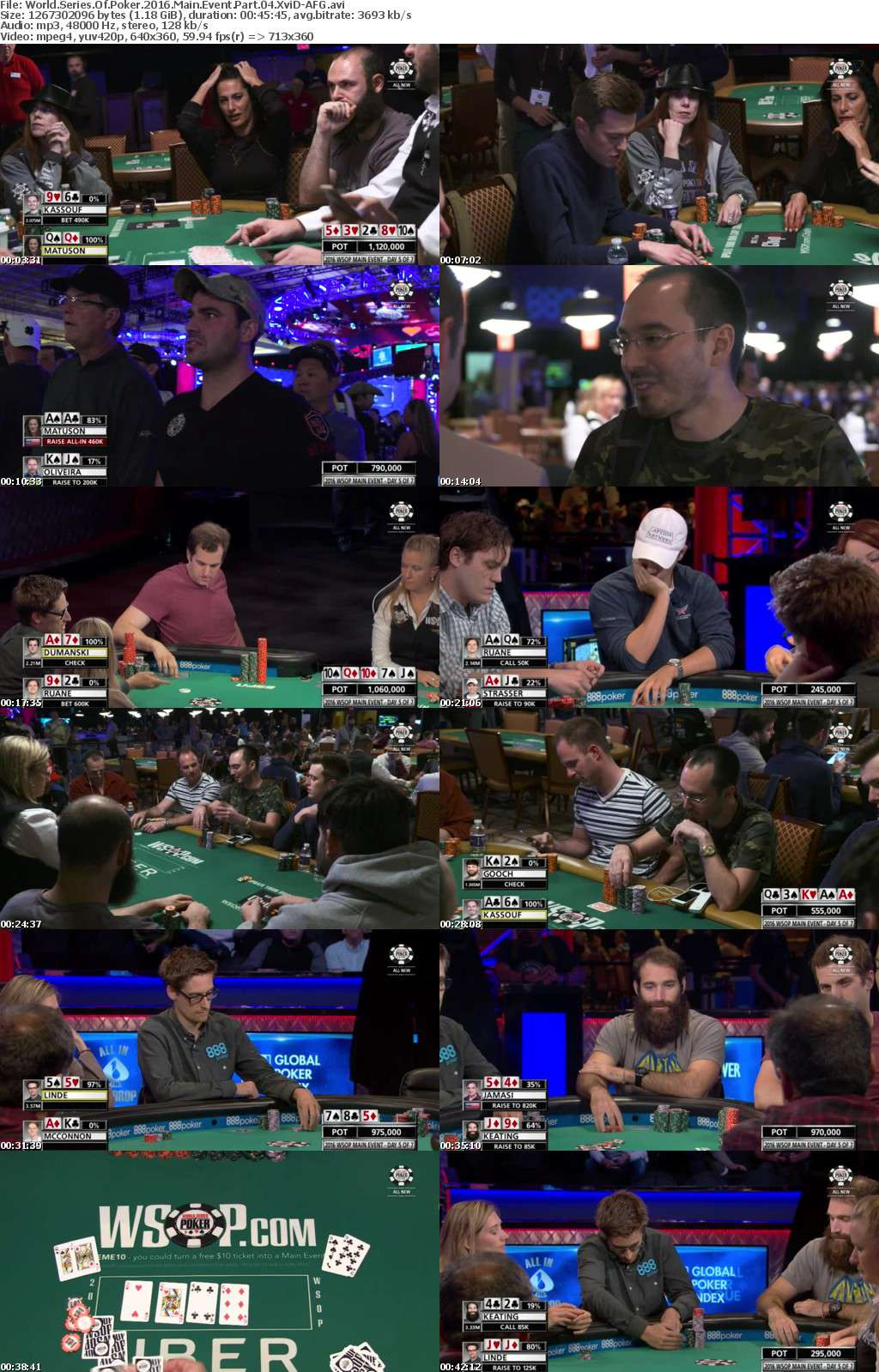 World Series Of Poker 2016 Main Event Part 04 XviD-AFG