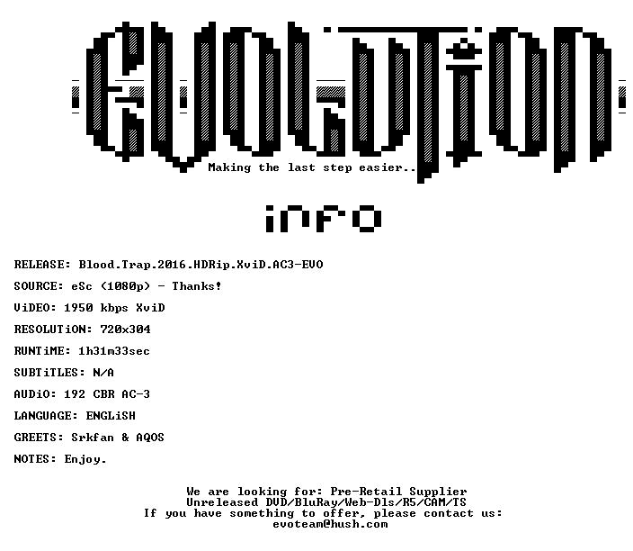Blood Trap 2016 HDRip XviD AC3-EVO