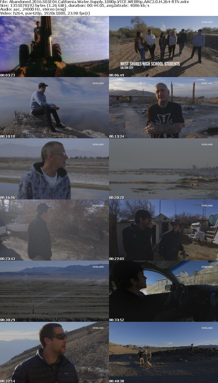 Abandoned 2016 S01E04 California Water Supply 1080p VICE WEBRip AAC2 0 H 264-RTN