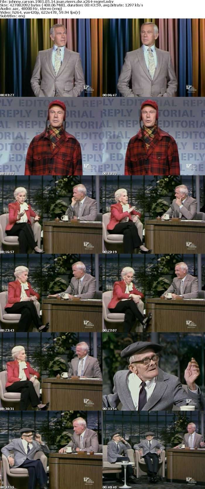 Johnny Carson 1981 05 14 Joan Rivers DSR x264-REGRET