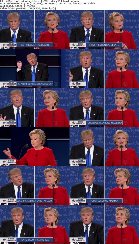 2016 US Presidential Debate 1 720p HDTV x264-BAJSKORV