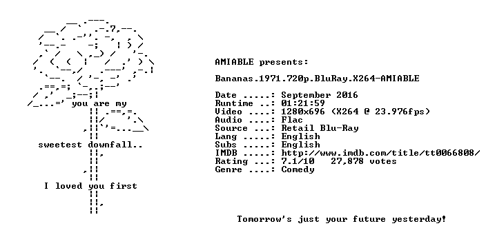 Bananas 1971 720p BluRay X264-AMIABLE