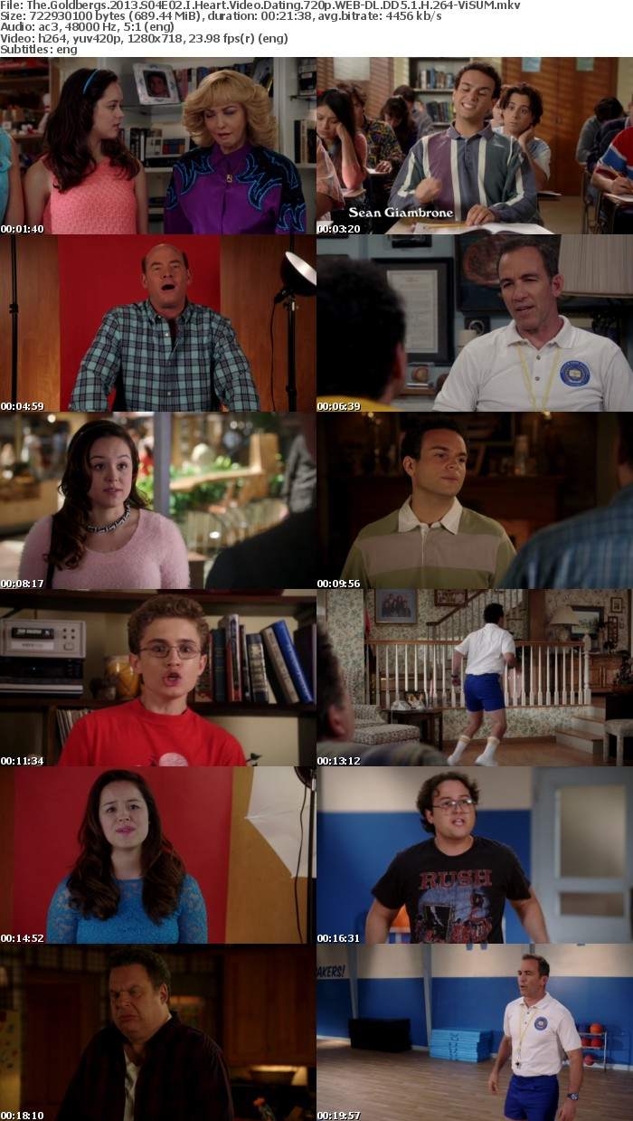 The Goldbergs 2013 S04E02 I Heart Video Dating 720p WEB-DL DD5 1 H 264-ViSUM