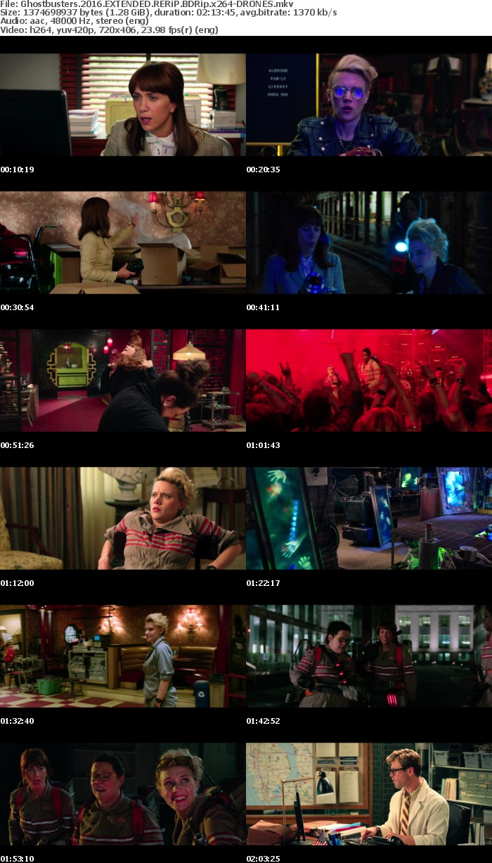 Ghostbusters 2016 EXTENDED RERiP BDRip x264-DRONES