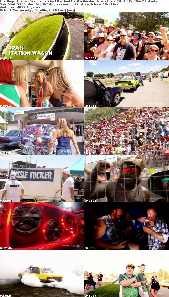 Bogan Hunters-Summernats And The Hunt For The Greatest Aussie Hoon 2015 HDTV x264-CBFM