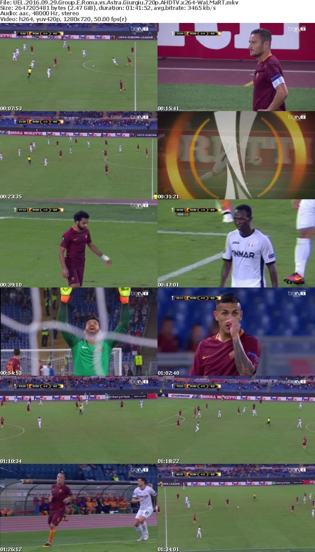 UEL 2016 09 29 Group E Roma vs Astra Giurgiu 720p AHDTV x264-WaLMaRT