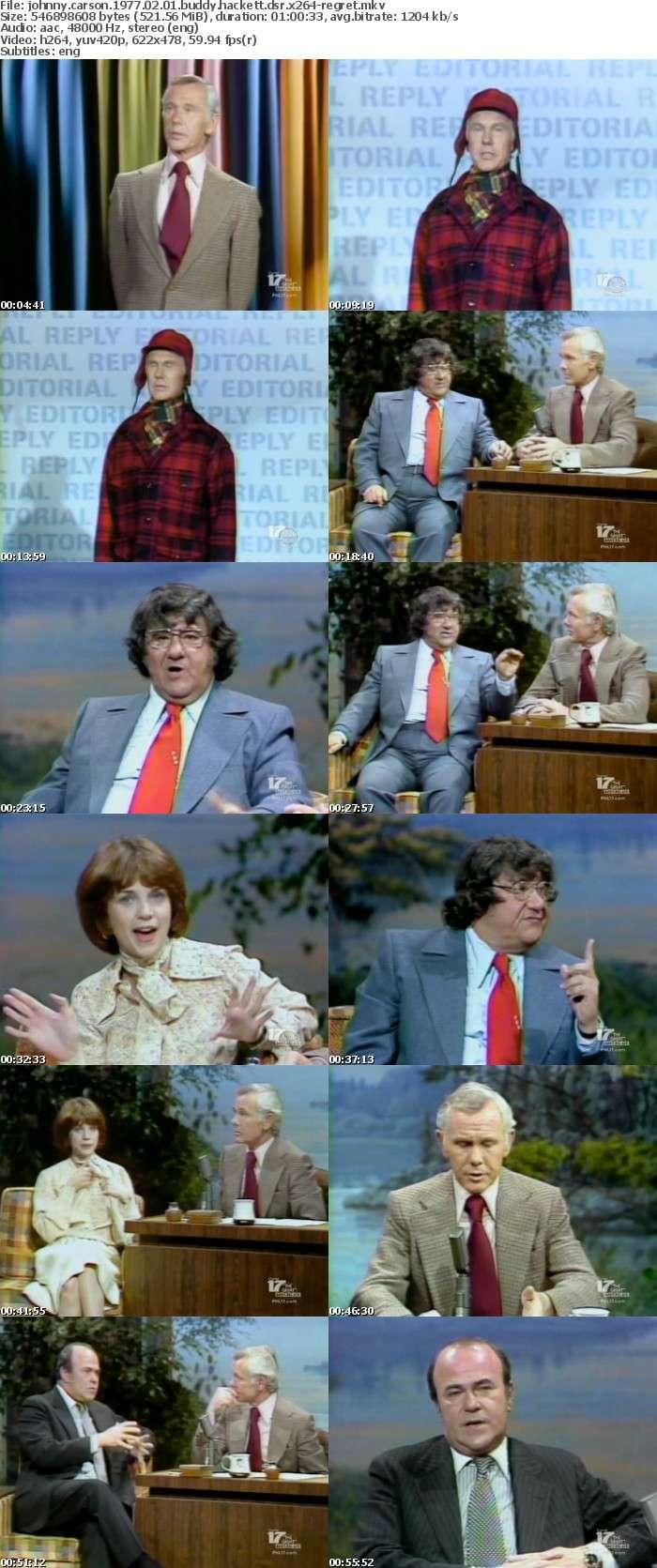 Johnny Carson 1977 02 01 Buddy Hackett DSR x264-REGRET