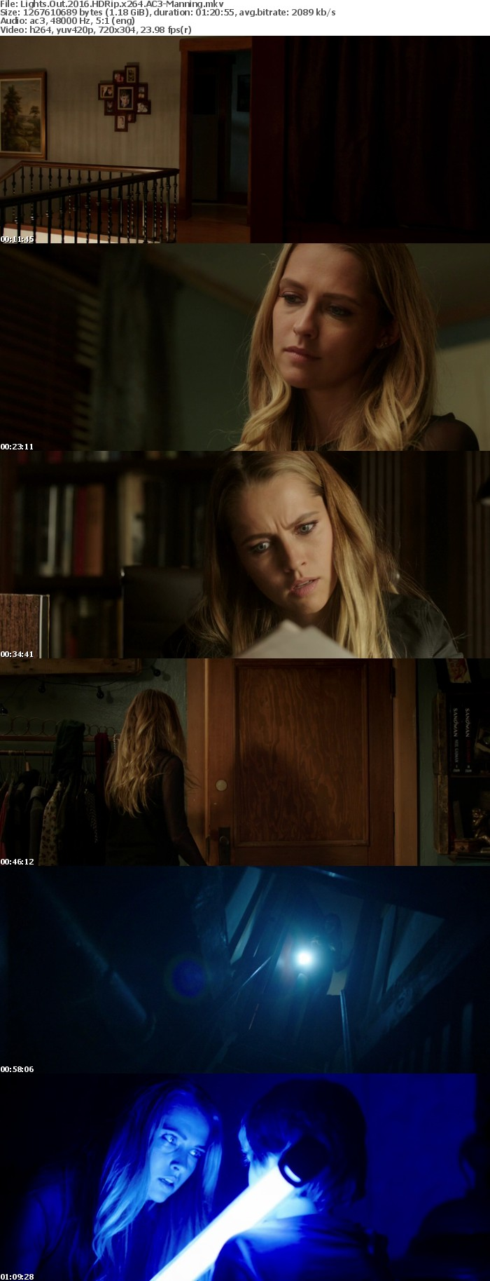 Lights Out 2016 HDRip x264 AC3-Manning