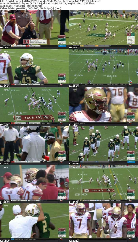 NCAA Football 2016 09 24 Florida State Vs South Florida AAC-Mobile