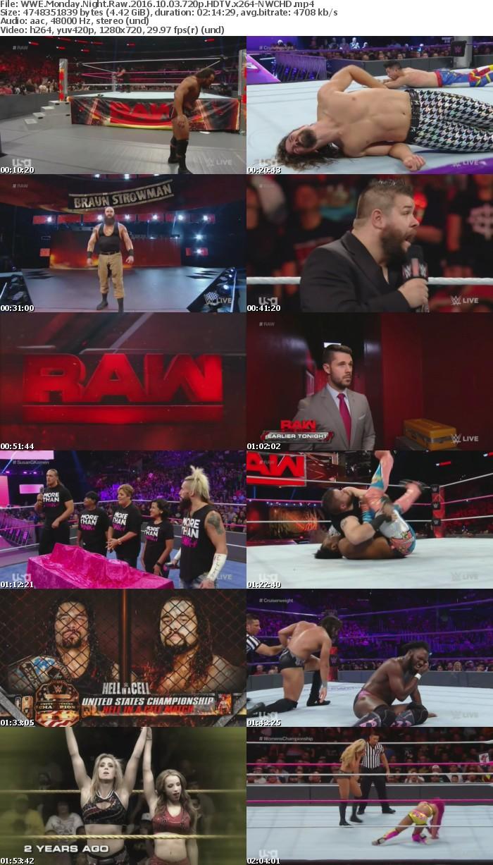 WWE Monday Night Raw 2016 10 03 720p HDTV x264-NWCHD