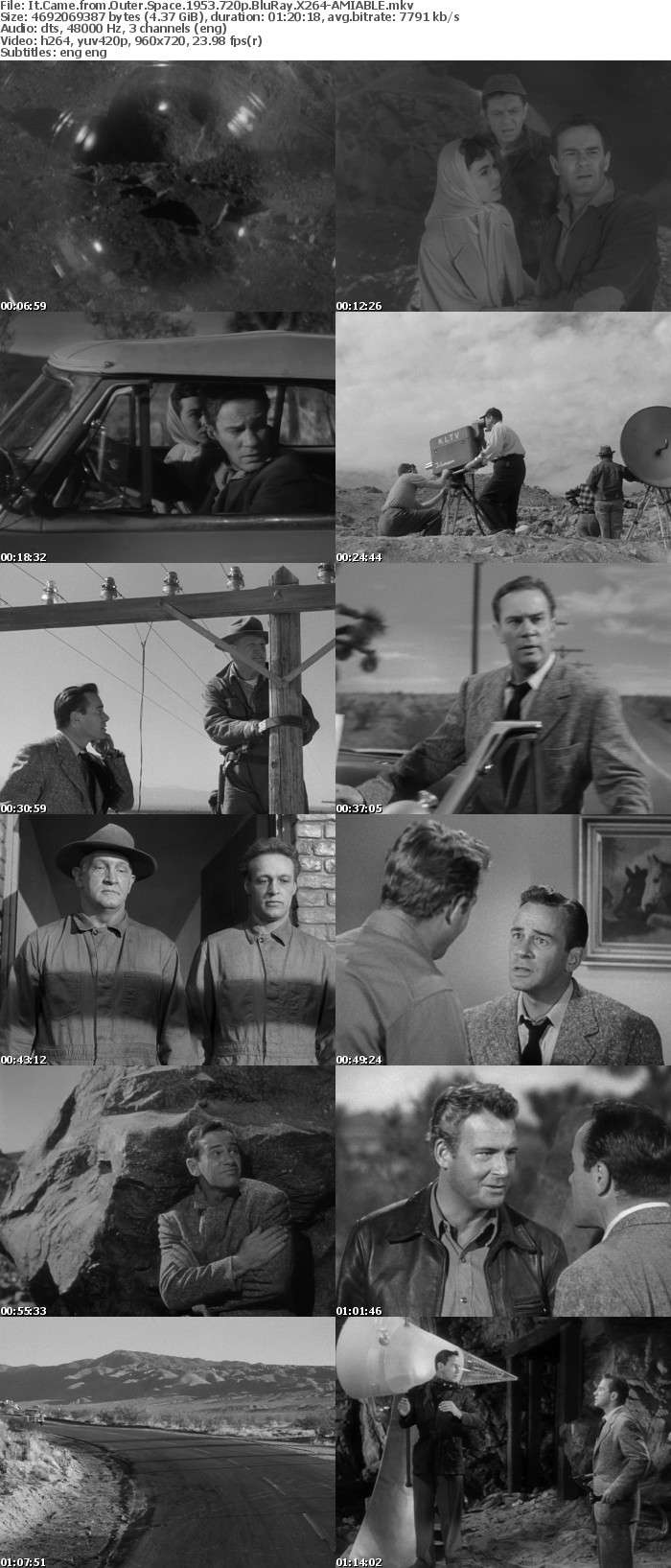 It Came from Outer Space 1953 720p BluRay X264-AMIABLE