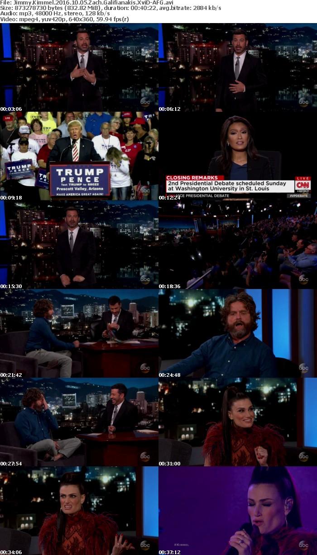 Jimmy Kimmel 2016 10 05 Zach Galifianakis XviD-AFG