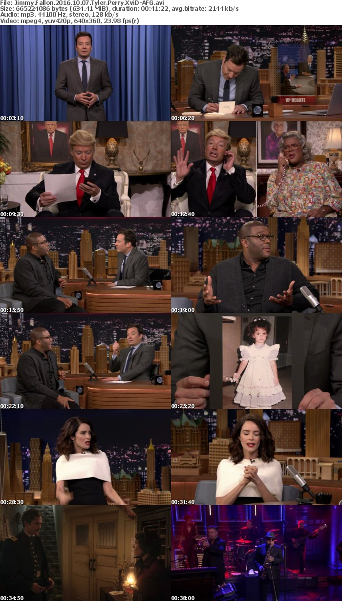 Jimmy Fallon 2016 10 07 Tyler Perry XviD-AFG