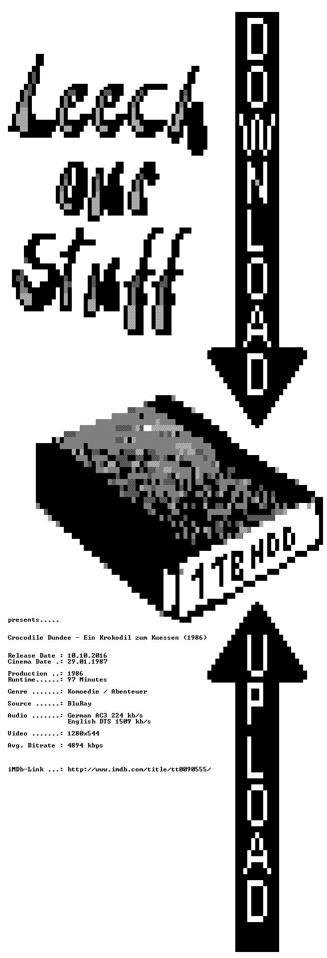 Crocodile Dundee Ein Krokodil zum Kuessen 1986 German AC3 Dubbed DL 720p BluRay x264-LeechOurStuff