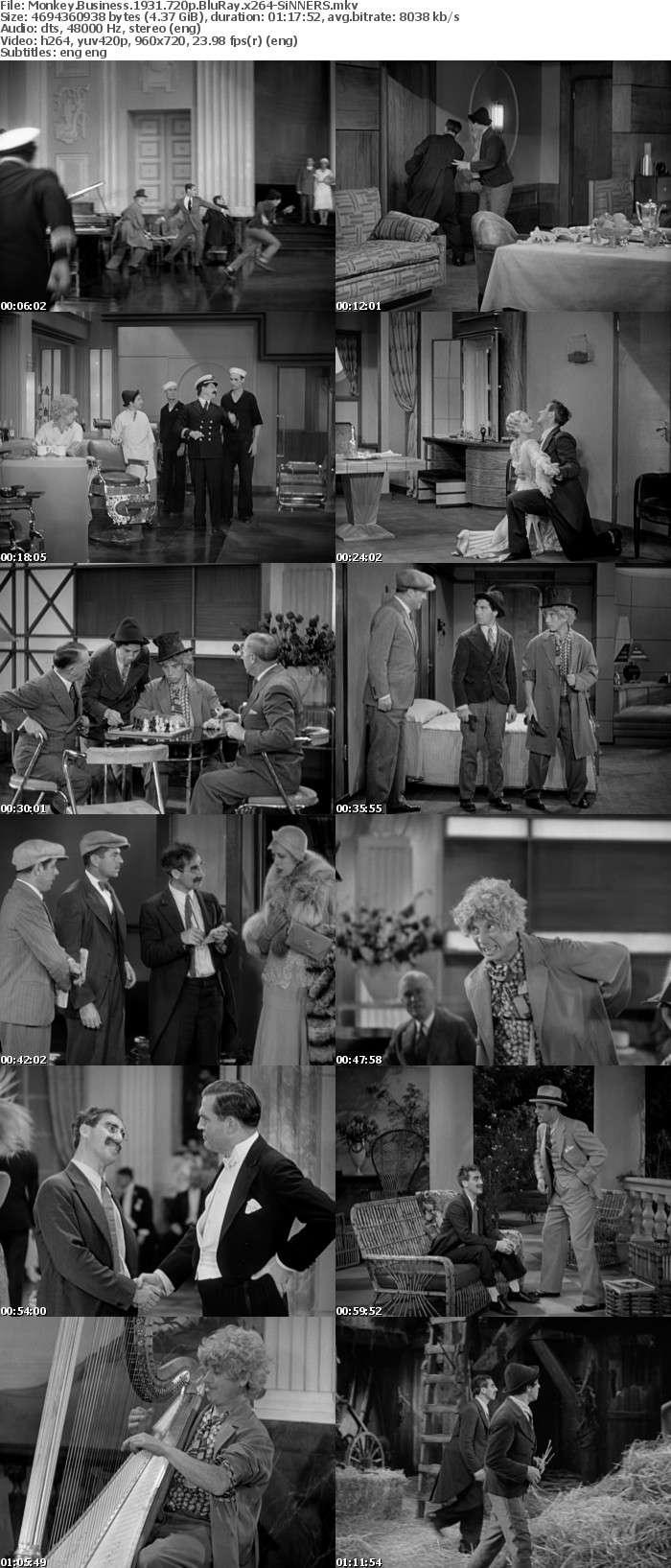 Monkey Business 1931 720p BluRay x264-SiNNERS