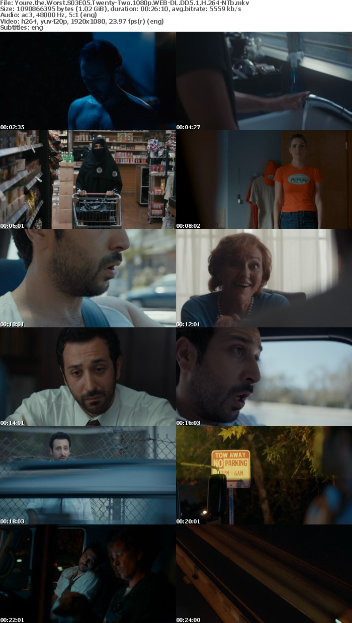 Youre the Worst S03E05 Twenty Two 1080p WEB DL DD5 1 H 264 NTb
