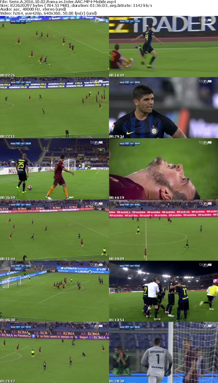 Serie A 2016 10 02 Roma vs Inter AAC-Mobile