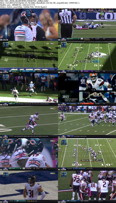 NFL 2016 WK05 Bears vs Colts 720p