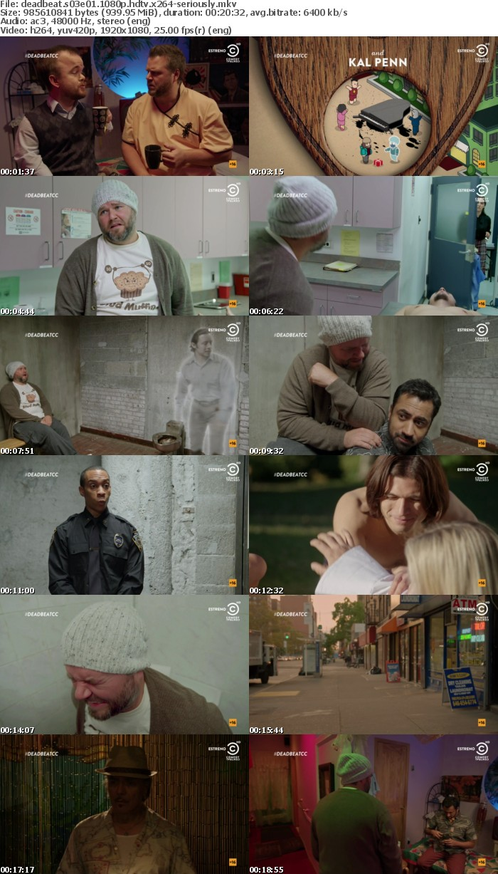 Deadbeat S03E01 1080p HDTV x264-SERIOUSLY