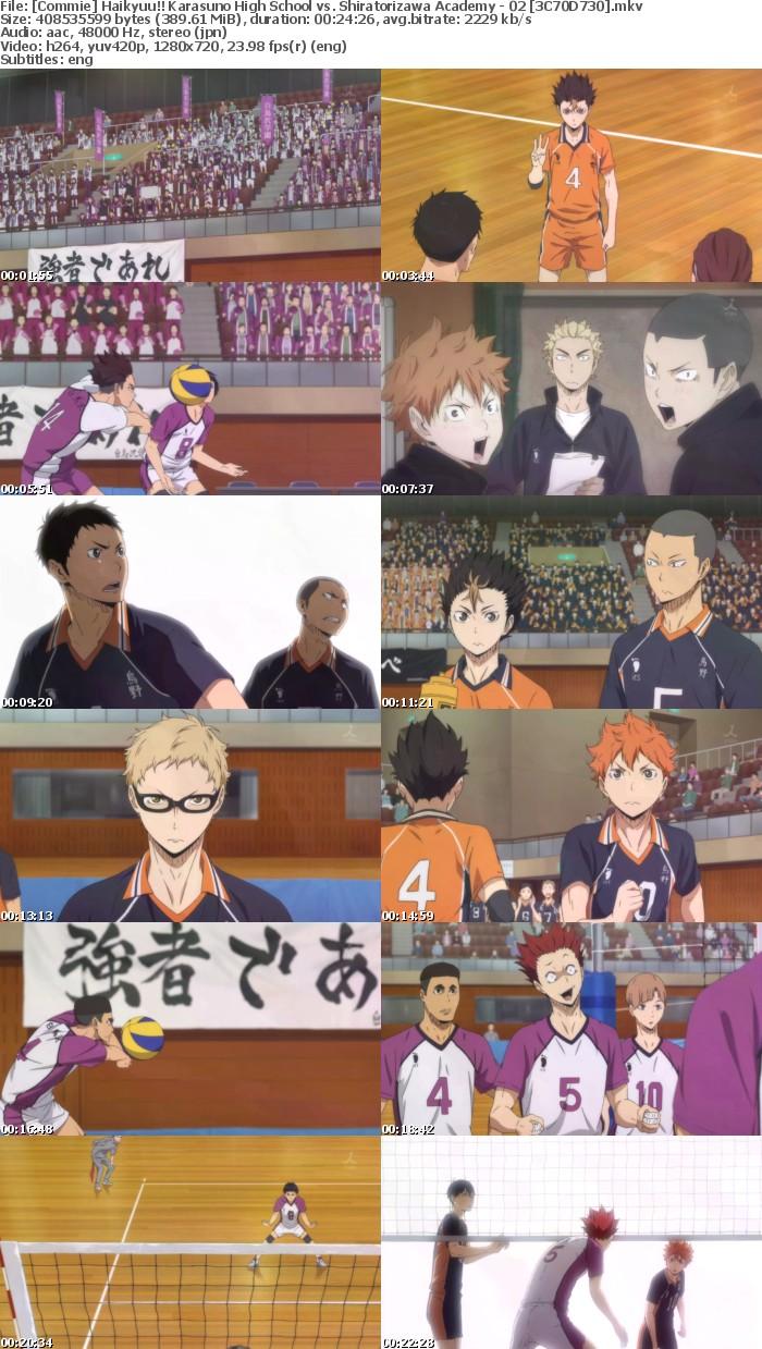 Haikyuu!! Karasuno High School vs Shiratorizawa Academy - 02 [10bit 720p]