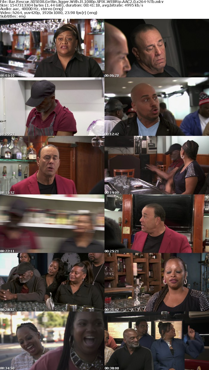 Bar Rescue S05E08 Gettin Jigger With It 1080p SPIK WEBRip AAC2 0 x264 NTb