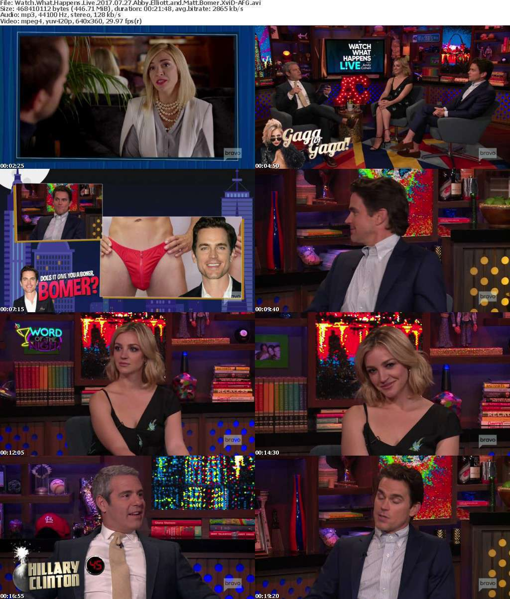 Watch What Happens Live 2017 07 27 Abby Elliott and Matt Bomer XviD-AFG