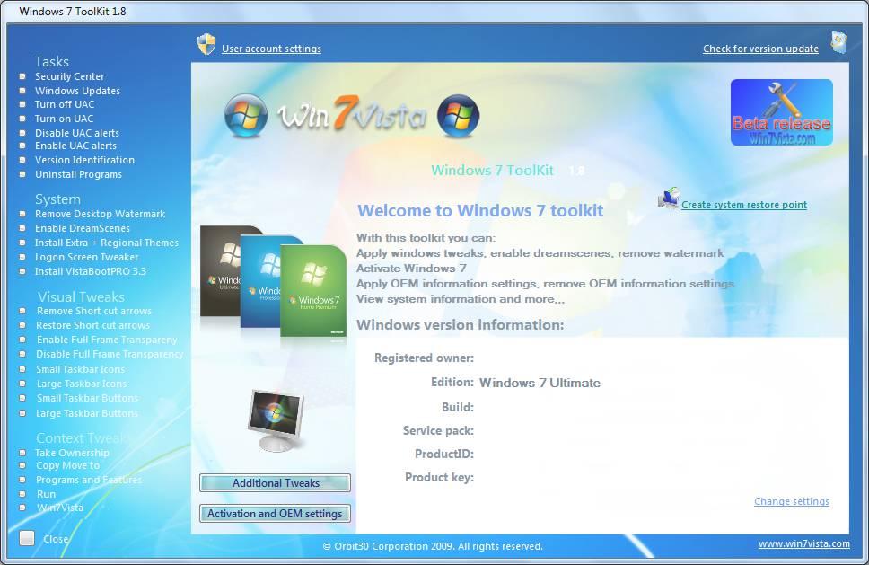 Пожалуй самый известный активатор windows 7 максимальная 7600 RTM, которым