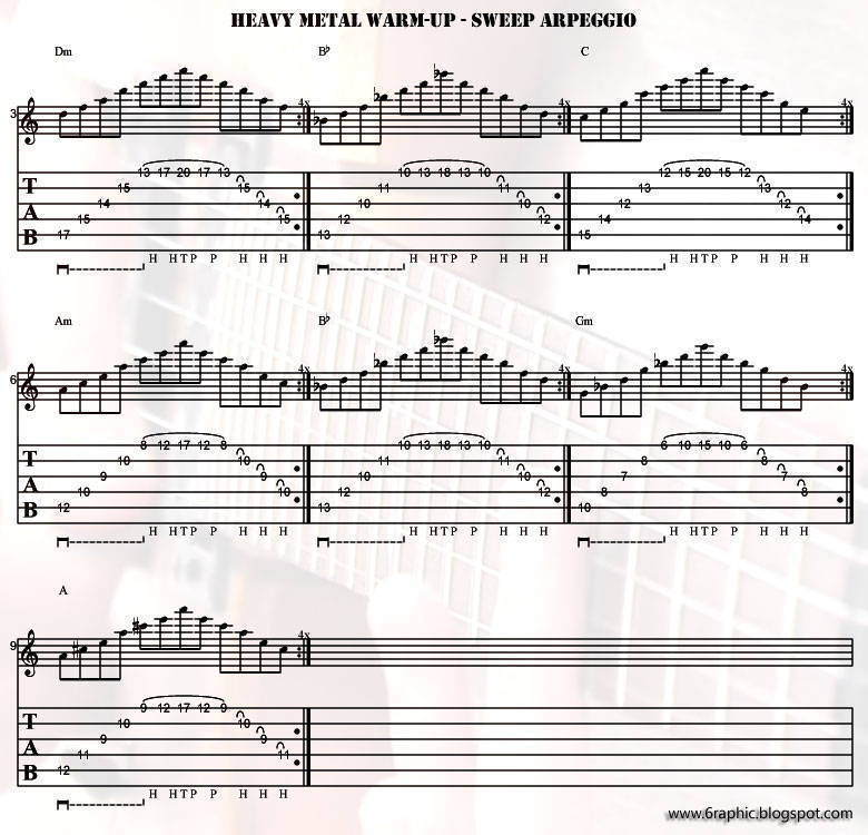 Heavy Metal Warm-Up - Sweep Arpeggio