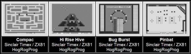 ZX81 games developed by Code Monkeys founders