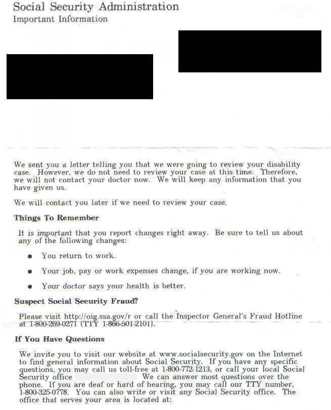 social security disability decision letter need help with disabilty update report 24916