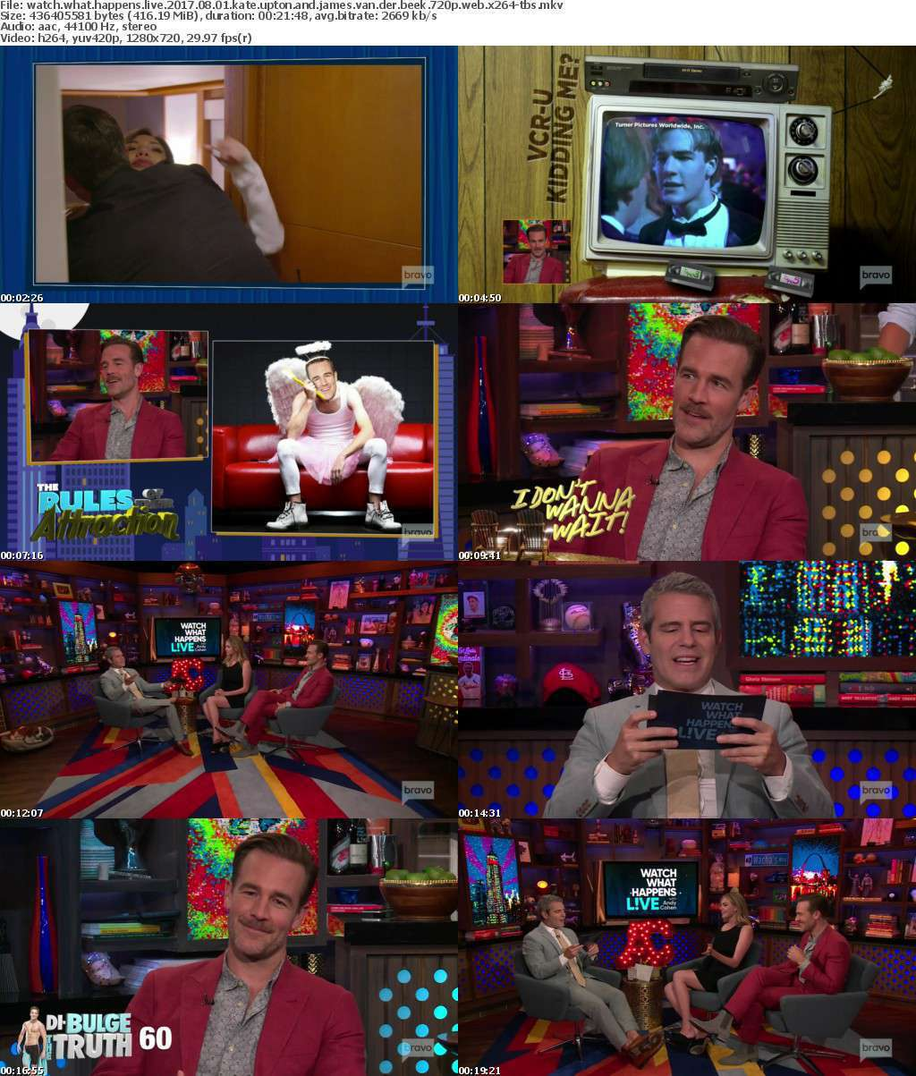 Watch What Happens Live 2017 08 01 Kate Upton and James Van Der Beek 720p WEB x264-TBS
