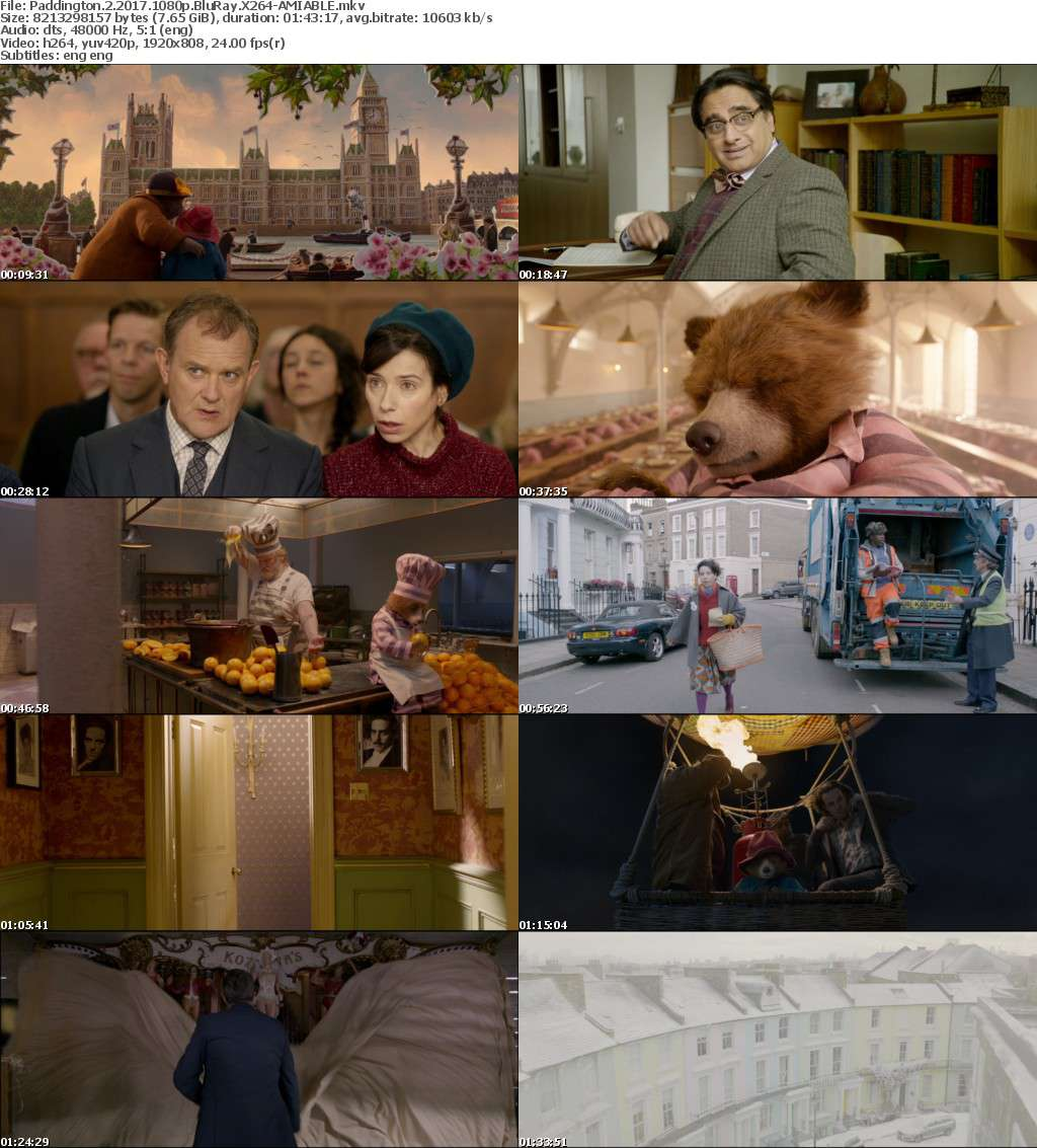 Paddington 2 2017 1080p BluRay X264-AMIABLE