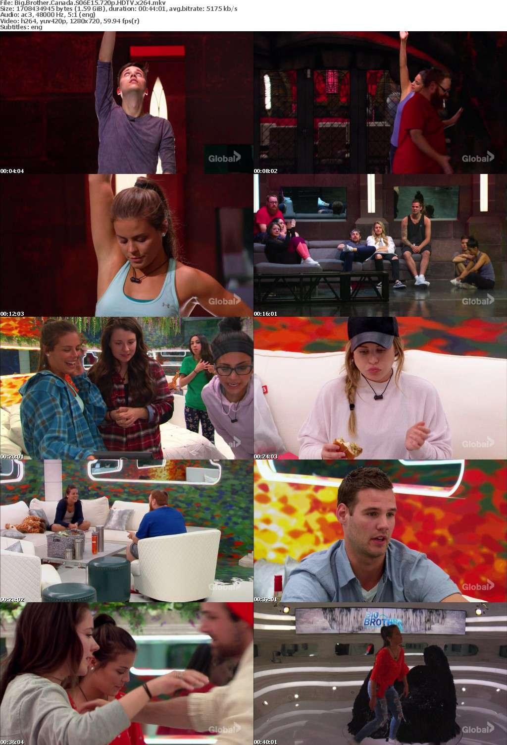 Big Brother Canada S06E15 720p HDTV x264