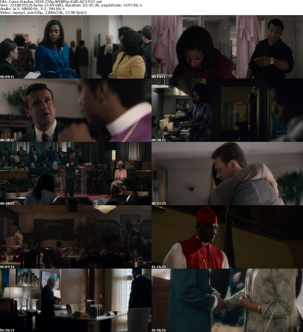 Come Sunday 2018 720p WEBRip XviD AC3-FGT